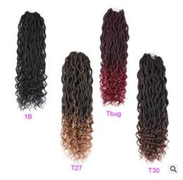 Hollow Fiber Australia - European and American black wig lady Qu hollow braided curl Faux locs wrapped chemical fiber Qu factory direct sale