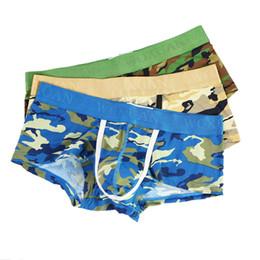 d436c5ef40c4fb 3pcs lot Mens Camouflage Boxer Briefs Stretchy Underwear Lingerie Sexy  Bulge Pouch Boxer Trunks Camo Underpants Boxers