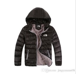 Chinese  Best-selling new down jacket winter wear boy and girl hooded leisure jacket new medium and big boy light 120-160 manufacturers