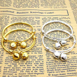 BaBy jewelry Bracelet gold online shopping - whole saleWholesale Jewelry Baby Bell Adjustable Bracelet Bracelet Plated Silver Gold Kid Baby Boy Girls Birthday party Gift