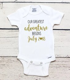 personalized Pregnancy announcement kids t shirts birthday Maternity photo  shoot baby shower bodysuit onepiece romper Outfit 3dd46e6b359b