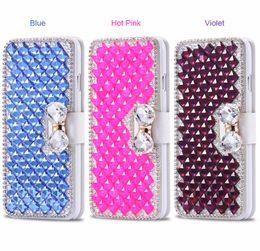 Discount lg diamond wallet - For LG Premier Pro LTE  LG K30 Case,Diamond Bowknot Shiny Crystal Rhinestone Purse wallet Leather Card Slot Pouch Flip C