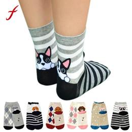 2c91b054f3a 1Pair Lovely Dog Striped 3D Long Socks Women Puppy Footprints Cotton Socks  Floor Creative Cute thigh high Dog Girls Meias