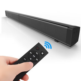 Remote sound caRd online shopping - 4PCS LP Sound Bar Subwoof Bluetooth Speaker Home TV Echo Wall Soundbar U disk Pling Speaker Wall mounted Remote Control
