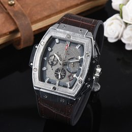 mens swiss chronograph luxury watches 2019 - Swiss Luxury Brand Mens Watches All Functional Leather Band AAA Quality Waterproof Wristwatch Small Dial Work Designer T