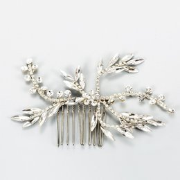 simple hair clips NZ - 2019 Handmade Simple Bridal Crystal Headpiece Wedding Hair Comb Clip Accessories Silver Women Hair Piece Jewelry