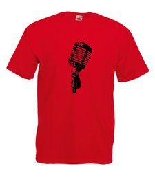 e7acb055 RETRO MICROPHONE DESIGN GRAPHIC HIGH QUALITY 100% COTTON SHORT SLEEVE  T-SHIRT Funny free shipping Unisex Casual top shirt