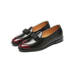 d8a4159787b7 Italian Leather Slippers Men UK - 2018 Luxury Men Dress Shoes Handmade  Loafers Italian Designer Classic