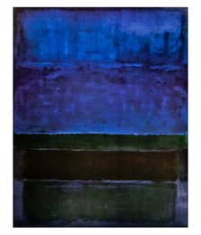 Ingrosso Mark Rothko Blue Green e Brown Abstract Art Oil Painting dipinto a mano HD stampa Wall Art di alta qualità su tela Home Decor g221