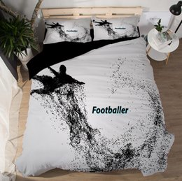 $enCountryForm.capitalKeyWord Australia - 2018 3D Bedding Sets Goalkeeper Duvet Covers New Style Bed Sheets Polyester Printing Footballer King Of Boxing Football Queen King Size 3pcs