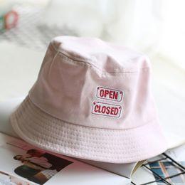 59da62b754d Bucket Hat Fashion Letter BANG Embroidery Fisherman Hats Men Women Cotton  Street Hip Hop Bucket Hat Fishing Cap