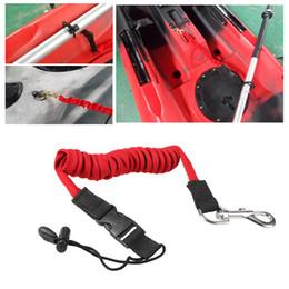Wholesale Elastic Kayak Canoe Paddle Leash Surfboard Surfing Leash Rope Safety Leash Rowing Boats Lanyard Fishing Rod Kayak Accessories