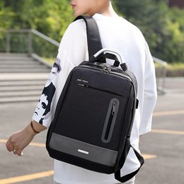 Wholesale 2018 Backpack Unisex Casual USB Business Computer Backpack Travel Bag Simple classic Leisure bolsa Multifunction