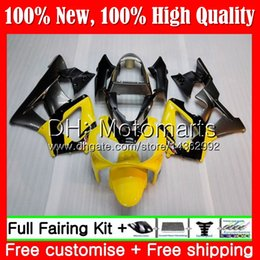 $enCountryForm.capitalKeyWord Australia - Body For HONDA CBR900 RR CBR 929RR CBR 900RR CBR929RR 00 01 54MT18 CBR 929 RR CBR900RR CBR929 RR 2000 2001 Yellow grey Fairing Bodywork