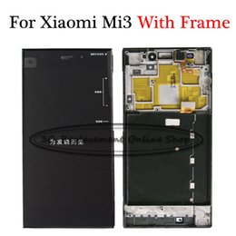 $enCountryForm.capitalKeyWord Australia - Black Full Touch Screen Digitizer Sensor Panel + LCD Display Monitor Assembly + Frame For Xiaomi 3 M3 MI 3 Mi3 ( WCDMA Version)