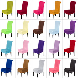 Wholesale Spandex Stretch Chair Covers Elastic Cloth Washable Chair Seat Cover For Dining Room Weddings Banquet Party Hotel Decorations