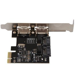 pci extension card UK - Freeshipping PCI-E PCI-Express to SATA 3.0 eSATA Adapter Converter Extension Card