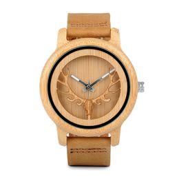China BOBO BIRD A27 Bamboo Wood Watches Women Top Sale Qaurzt Men Watch in Gift Box Drop Shipping suppliers