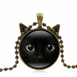 $enCountryForm.capitalKeyWord Australia - Fashion Metal Ball Chain Long Necklace For Women Girl Cute Animal Cat Pendant Necklace Choker Jewelry Christmas Gift Bijoux