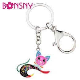 Discount cat key jewelry - WEVENI Enamel Alloy Jumping Kitten Cat Key Chain Keychain Rings Cartoon Animal Jewelry For Women Girls Teen Bag Car Purs