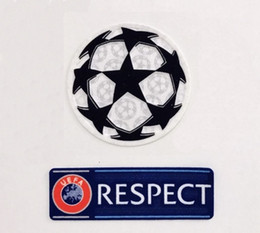League patches online shopping - Respect and Starball patch Champions League patch soccer patches ucl starball respect patch Badges badge UCL badge