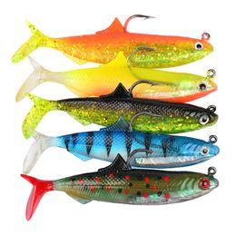 $enCountryForm.capitalKeyWord Australia - 5pcs 1set 10.5cm Lures Soft Baits With Sturdy Hook For Fishing Sports Fake Fish Pesca Tackle Many Colors Streamline Shape 3sb ZZ