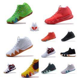 859fd452324 Mens kyries basketball shoes Lucky Charms Green Halloween Team Red Blue  Yellow Wheat Black White new kyrie irving IV sneakers sport with box