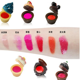 $enCountryForm.capitalKeyWord Australia - DHL free New Cupcake Lip Gloss Balm 6 Flavoured Glosses Balm Christmas Secret Santa Lipgloss lipstick Cake Chocolate Cherry Strawberry Cream