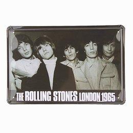 Металлический знак потрепанный шик ROLLING STONE LONDON 1965