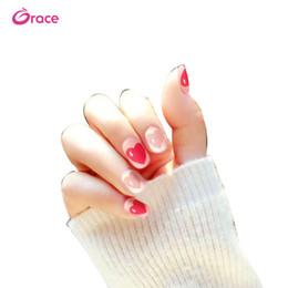 Nail Decorate Australia - B24 artifical false nail sticker press on false finger nail tips decorated salon false nail