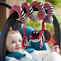 Hanging rattle online shopping - Cute Baby Toy Newborn Rattles Stroller baby stroller Hanging Bell Musical Plush Educational Plush Toy Rattle Toy LJJK1014