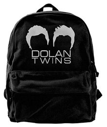 twins girls Canada - Dolan Twins Canvas Shoulder Backpack New Jogging Backpack For Men & Women Teens College Travel Daypack Black