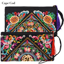 $enCountryForm.capitalKeyWord Australia - Hot Price-promotion Newest Women Ethnic National Embroidery Day Clutch Hand Bags Evening Bag Wallet Purse Long Money Phone Bag