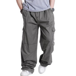 2fd95c5146e Wholesale-Plus Size 3XL 4XL 5XL 6XL Trousers Casual Mens Cargo Pants Spring  Male Hip Hop Loose Men Pants