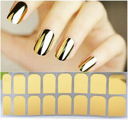 $enCountryForm.capitalKeyWord Australia - by dhl or ems 500pcs Mirror Nail Foil Stickers On Nail Full Wrap Sticker Gold Silver Metal Patch Punk Decal Nail Art Manicure