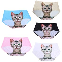 sexy pussy new 2019 - 2017 New Fashion Ladies Pussy Cat Sexy Panties Briefs Screen Printed Apparel Undies -MX8