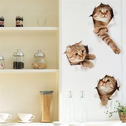 $enCountryForm.capitalKeyWord NZ - Hole View Cat Dog 3D Wall Sticker Bathroom Toilet Kids Room Decoration Wall Decals Sticker Refrigerator Waterproof Poster For Small Pet