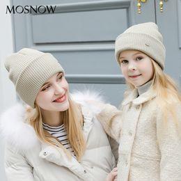 Cashmere Beanies Australia - Women's Hats Children Cotton Warm Beanie Mother and Child Fashion Caps 2018 Winter Knitted Hat Female Skullies Beanies Unisex Y18110503
