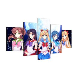 $enCountryForm.capitalKeyWord UK - Sailor Moon Colourful Anime,5 Pieces Canvas Prints Wall Art Oil Painting Home Decor (Unframed Framed)