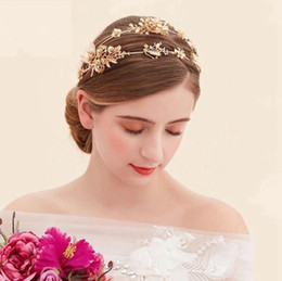 pearl bride UK - The bride bride headdress headdress Golden hoop golden Dragonfly