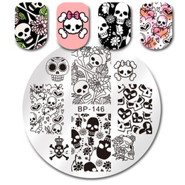 $enCountryForm.capitalKeyWord Canada - BORN PRETTY Round Stamping Template Summer Floral Geometry Flower Cartoon Nail Stamping Plates 5.5cm Manicure Tools