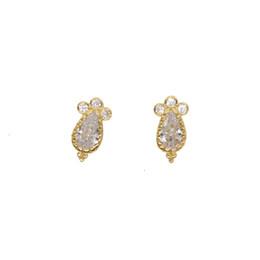$enCountryForm.capitalKeyWord UK - Sweet little earring for young girl 100% 925 sterling silver waterdrop CZ Shiny bling cz stud minimal multi piercing cute stud