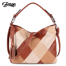Computer Hand Bags NZ - ZMQN Luxury Handbags Women Bags Designer Casual Tote Shoulder Bag For Women 2018 Patchwork Ladies Hand Bags PU Leather Big C861 Y18102604