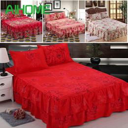 royal beds 2018 - 1 PC Reactive Printed Royal Series Soft Velvet Queen Size Double Layers Skirt Rims Bed Skirt Chandler Bed cheap royal be