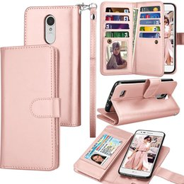 $enCountryForm.capitalKeyWord Canada - For iphone X IPHONE 8 PLUS IPHONE 7 7 PLUS PU Leather Credit Card Slots Carrying Folio Flip Cover Detachable Magnetic Kickstand wallet