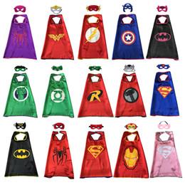 15 style cape de super-héros avec masque pour enfants couche unique super-qualité dessin animé costumes de costumes d'enfant de Noël Halloween Halloween