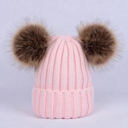 Braiding Hair Cap NZ - Knit Wool Hair wool Cap Windproof Warm New Vertical Stripes Imitation Braids Big Hair Ball Autumn Winter Fashion Hats