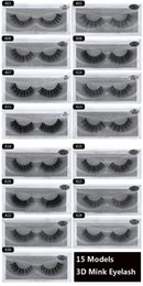 Top False Eyelashes Australia - Newest Real top quality 3d mink eyelashes Natural Long Soft mink hair false eyelashes for Beauty Makeup Extension 3d mink eye lashes