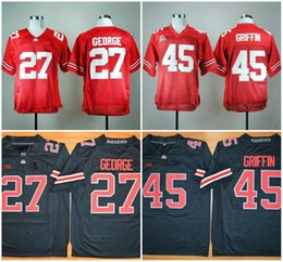 Discount ohio state jerseys - 27# Eddie George Jersey College OSU Ohio State Buckeyes Jerseys 45# Archie Griffin Jersey Home Away White Black Red Grey