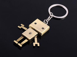 Robot Keychain Creative Car Key Pendant Men Lovers Chain Small Gifts Wholesale Free Shipping